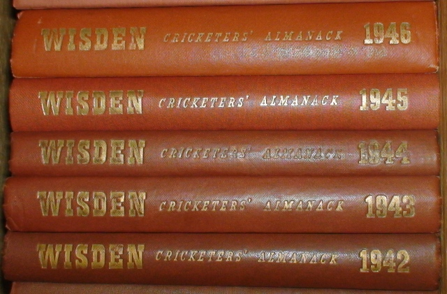 1940s Wisdens with Original Gilt.
