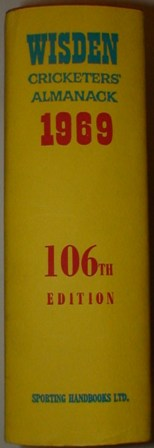1969 Wisden Hardback & Dust Jacket